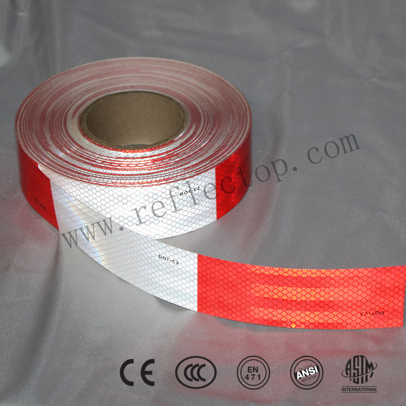 Red & White DOT C2 Reflective Concpicuity Tape