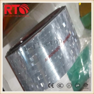 Metallized reflective film for warning post