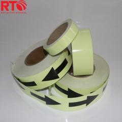 6-8hrs Arrow Printing Glow In The Dark Reflective Tape Suppliers